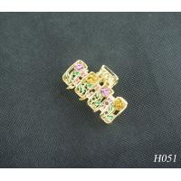 China Unisex Jeweled Hair Accessories Fashion Plated Gold Hairpin for Party wholesale