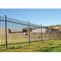 China Free Standing Metal Palisade Fencing Decorated For Buildings / Courtyard 100x55mm Post wholesale
