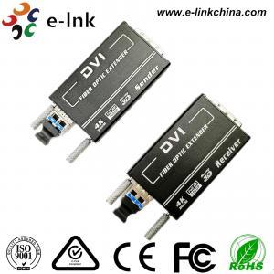 China Mini 4KX2K DVI Fiber Transceiver  Multi-mode 300M, Auto EDID wholesale