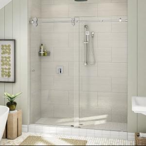 China Top Roller Bathroom Sliding Glass Door Frameless Shower Enclosure wholesale