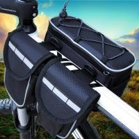 China 4 In 1 Mountain Biking Backpack , Cycling Riding Front Bag With Rain Cover wholesale