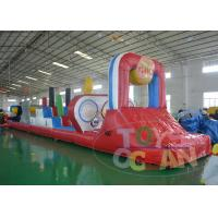 China Colorful Giant Inflatable Games / Extrior Inflatable Dry Slide Durable wholesale
