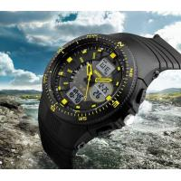 China Wholesale New Outdoor Elite Men Multifunction Rotatable Dial 5ATM Dual Time Sport PU Strap Wrist Watch 1198 wholesale