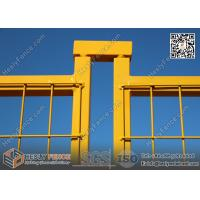 """Quality 6x9.5ft Temporary Fencing panels with Yellow Powder Coated 