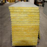 China 15 years A grade fire rating 50mm glass wool greywhite exterior sandwich wall panel on sale