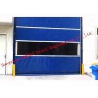 China Finished Surface PVC Automatic Industrial Garage Doors Roller Shutter With Visual Window wholesale