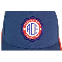 China ACE 6 Panels Unisex Custom Stagger Color Rubber Patch Craft Logo with Velcro Closure Buckle Baseball Sports Cap Hat wholesale