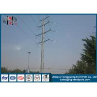 China Communication Burial Type Electric Power Pole 40FT High Hot Dip Galvanized wholesale