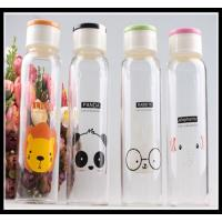 China Promotional Christmas Gift glass water bottle with any simple elegant logo and color wholesale