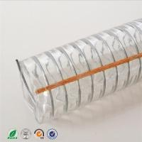 China Transparent PVC coated flexible wire steel hose /discharge water hose/ steel wire reinforced spring pvc hose pipe wholesale