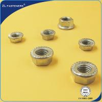 China DIN 6923 Hex Flange Nut , Stainless Steel Flange Nuts Bright / Yellow Zinc Plated wholesale