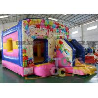 China Pink Color Inflatable Clown Jumping Castle House With Front Slide ASTM Approved wholesale