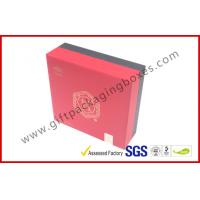 China Red PP Paper Printed Divided Packaging Boxes Lid and Base Expensive Gift Boxes wholesale
