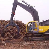 China hydraulic log grapple for excavator/excavator 360 degree rotating rock gripper wholesale