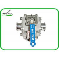 China Sanitary Full Bore Ball Valve Clamp / Thread / Weld / Flange 3 Way , Non Retention on sale