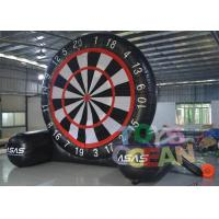 Quality Black And White Gaint PVC Inflatable Soccer Foot Dart For Outdoor Sport Game for sale