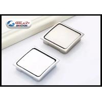 China Zinc Alloy Chrome Hidden Kitchen Door Handles , Square Concealed Cabinet Pulls on sale