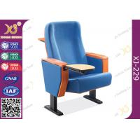 China Beech Plywood Auditorium Theater Seating / Lecture Hall Chairs With Writing Tablet wholesale