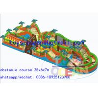China Amazing Race Adult Big Inflatable Obstacle Course Outdoor Playground Equipment wholesale