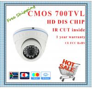 "Quality 700TVL 1/4"" CMOS camera with IR-CUT weatherproof Dome security Camera 24 IR for sale"