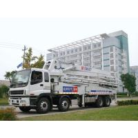 China 47m Isuzu Concrete Pump Truck Mounted 8x4 / Concrete Placing Equipment on sale