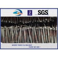 China Q235 Galvanized Washer Head Timber Drive Screw For Rail Fastening System wholesale