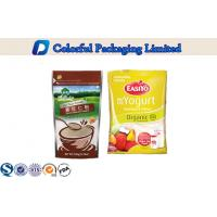 China biodegradable Matt Varnish Whey Protein Powder Bag for calcium protein on sale
