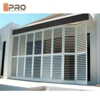 China Outdoor Perforating Movable Aluminium Louver Window Vertical Sun Shading wholesale