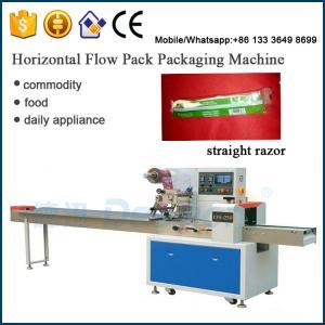 China Chinese supplier plastic straight razor / shaving razor packing machinery on sale