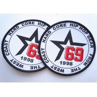Quality Rubber 3D Custom Clothing Patches Embosssed With Backing for sale