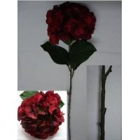 China New Arrival: Silk Hydrangea,Top Quality, Burgundy wholesale