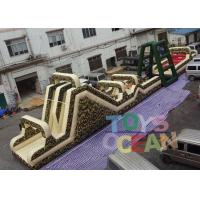 China 32m Length Giant Military Inflatable Obstacle Course Game For Running Race wholesale