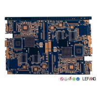 4 Layer Industrial PCB Control Board With Blue Ink 80 * 64 Mm Size