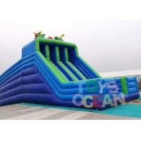 Quality Large Hippo Inflatable Water Slide With 4 Lanes Slip N Slide For Adult Commercial Event for sale