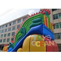 Animal World Theme Inflatable Jungle Bounce Playground Combo For Commercial Rental