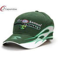 China NHRA Flame Printed Racing Baseball Caps Green Vintage Baseball Hats For Men wholesale