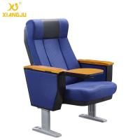 Buy cheap Anti Stained PU Molded Foam Auditorium Chair Foladble Aluminum Feet MDF Writing pad from wholesalers