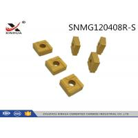 China SNMG120408 Cemented Carbide Inserts S Chipbreaker For High Feed Machining wholesale