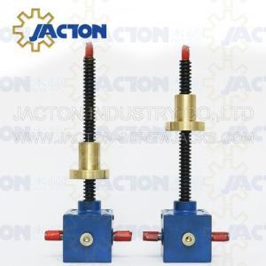 China SWL QWL Series Motorized Worm Screw Gear Lift SJ-25 precision worm electric screw jack worm gear screw lifter wholesale