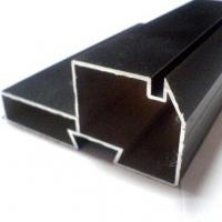 Quality Black Powder Coated RAL9006 Aluminium LED Profiles / Aluminum Extrusion Profiles for sale