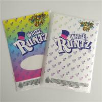 China Customized Labels Printable Shrink Wrap  White Runtz Mylar Paper Stickers Gravure Printing on sale