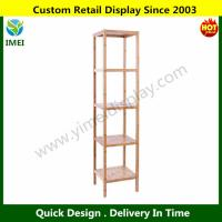 Buy cheap Songmics 100% Natural Bamboo Bathroom Tower 5-Shelf Towel Storage Rack Shelving from wholesalers