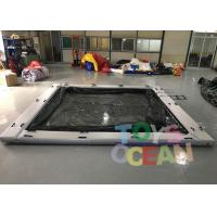 China Commerical Gaint Inflatable Water Floating Sea Pool With Net For Yacht wholesale