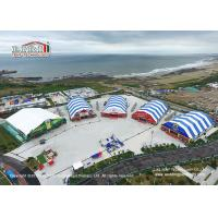 China 40m Width Polygon Marquee With Colorful Roof Top And Sidewalls For Beer Festival wholesale