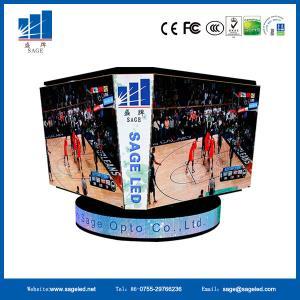Quality Stadium Perimeter LED Cube Display Scoreboard Video Cube Wall High Brightness for sale