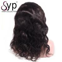 China Medium Brown Remy Lace Front Wigs With Bangs Body Wave Hair Naturally wholesale