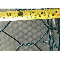 Quality 8x10 Aperture 2m*1m*1m PVC Coated Gabion Wire Mesh Stone Cage For Retaining Wall for sale