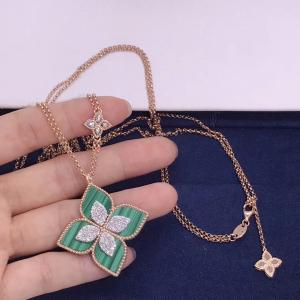 China fashion jewelry brand Medium Flower Diamond Necklace brand jewelry names wholesale