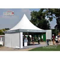 China Cream White High Peak Aluminum Tent With PVC Sidewall For Exhibition For Sale wholesale