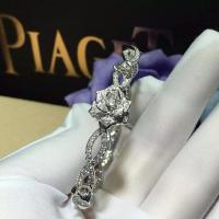 Quality PIAGET brand jewelry Piaget Rose bracelet in 18K white gold set with 190 for sale